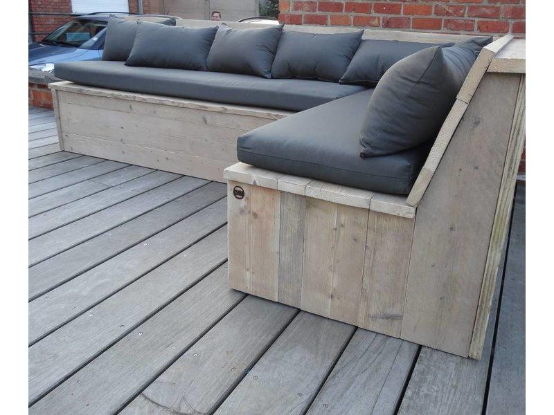 """Harstad Garten"" Bauholz Eckbank mit Kissen PURE Wood Design ~ 13043926_Garten Essgruppe Mit Eckbank"