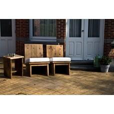 """Eggdal Garten"" Stühle aus Bauholz"