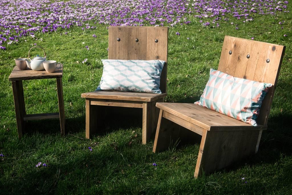 eggdal garten st hle aus bauholz pure wood design. Black Bedroom Furniture Sets. Home Design Ideas