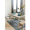 """""""Esbjerg"""" Tisch aus Uferholz mit Untergestell aus Stahl"""