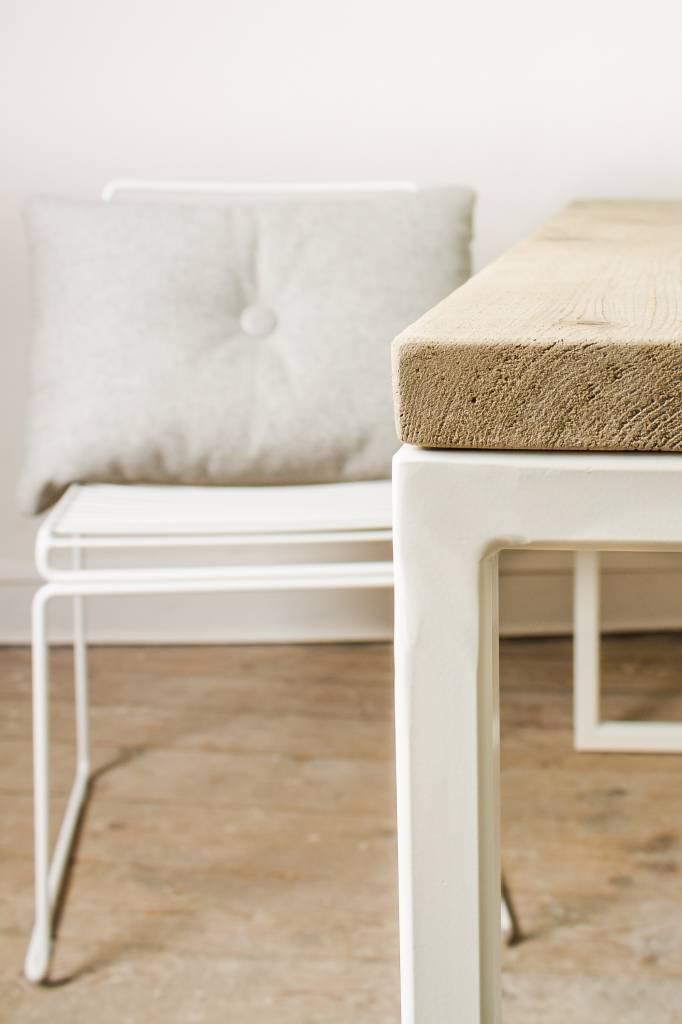 Shore Holz Gartentisch Mit Untergestell Aus Stahl Pure Wood Design