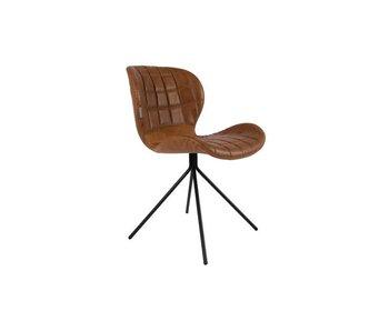 Zuiver OMG LL Chair - Braun in Vintage Kunstleder
