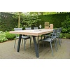 """""""Arendal Garten"""" Tisch aus Bauholz mit schrägen Beinen aus Stahl"""