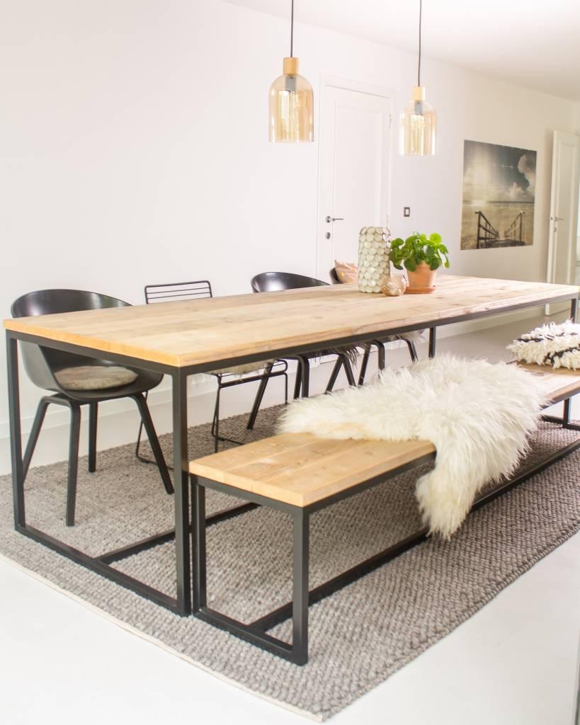 Brandal Industrieller Bauholz Tisch Untergestell Aus Stahl Pure