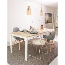 """""""Flora Outdoor"""" Tisch aus Bauholz mit Untergestell aus Stahl"""