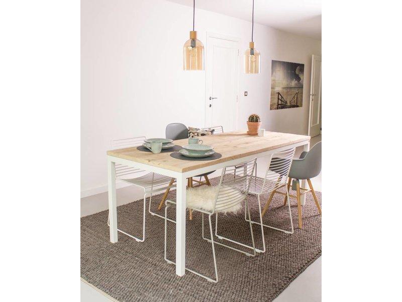 """""""Flora Garten"""" Bauholz Tisch/ Untergestell aus Stahl"""
