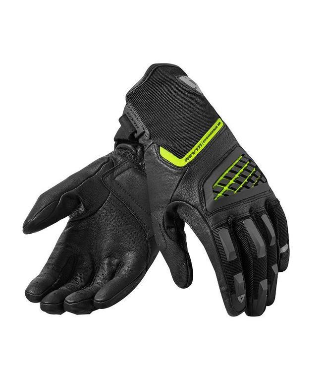 REV'IT! Neutron 2 Gloves Black-Neon Yellow