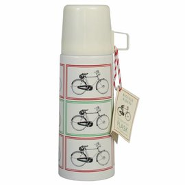 Dotcomgiftshop Thermosfles met beker Vintage Bicycle