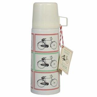 Dotcomgiftshop Thermosfles met beker Vintage Bicycle