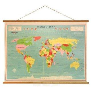 Dotcomgiftshop Vintage Klassieke Wereldkaart
