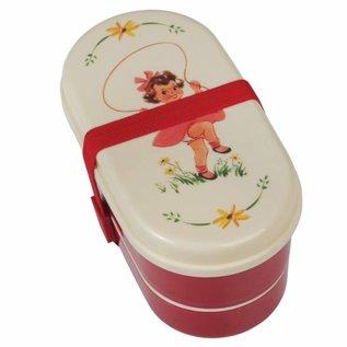 Dotcomgiftshop Broodtrommel / Bento Box Vintage Girl