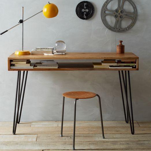 Tafel maken met Hairpin Leg tafelpoten - Lekker Retro