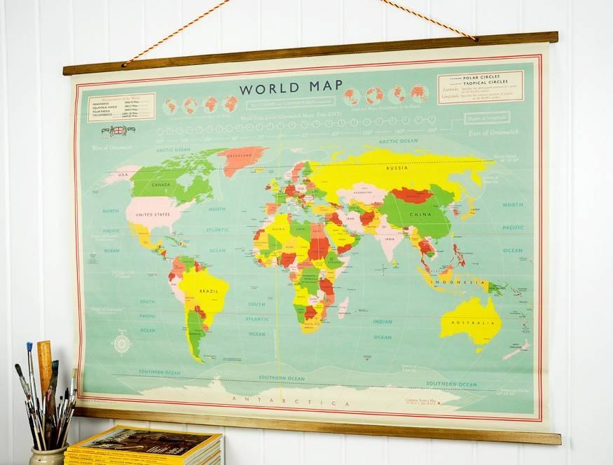 Vintage klassieke wereldkaart
