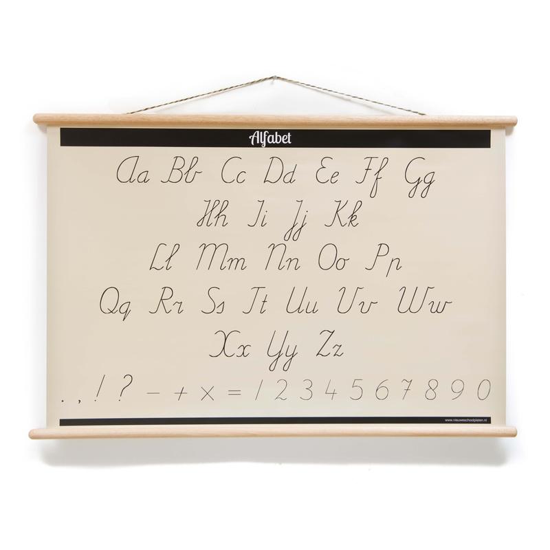Schoolplaat ABC Alfabet