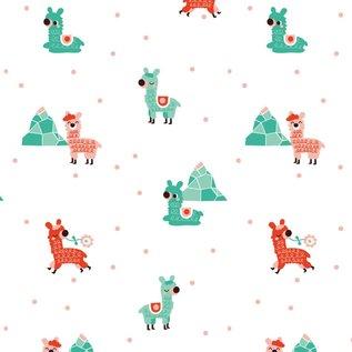 BORA illustraties Bora behang kinderkamer - Alpaca's