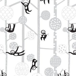 BORA illustraties Bora behang kinderkamer - Luiaards (Sloths)