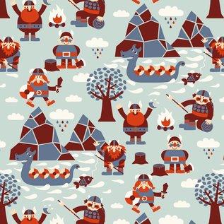 BORA illustraties Bora behang kinderkamer - Vikings