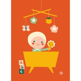 BORA illustraties Poster (50 x 70 cm) Hello Baby