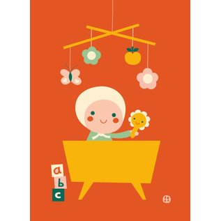 BORA illustraties BORA Poster (50 x 70 cm) Hello Baby