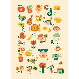 BORA illustraties Poster (50 x 70 cm) ABC