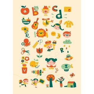 BORA illustraties BORA Poster (50 x 70 cm) ABC Alfabet