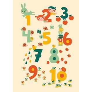 BORA illustraties BORA Poster (50 x 70 cm) 123 cijfers