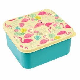 Dotcomgiftshop Broodtrommel / Lunchtrommel Flamingo