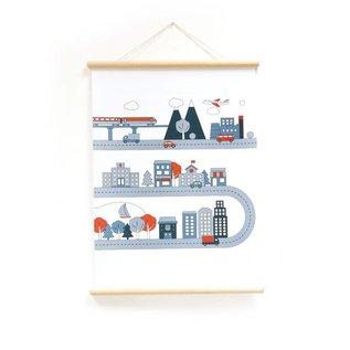 Nieuweschoolplaten Schoolplaat Industrie / Stad / Natuur