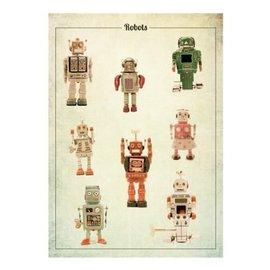 Nieuweschoolplaten Vintage Poster Robot