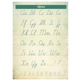 Nieuweschoolplaten Vintage poster / schoolplaat Alfabet groen