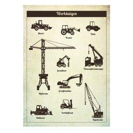 Nieuweschoolplaten Vintage Poster Werktuigen
