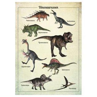 Nieuweschoolplaten Vintage Poster Dino