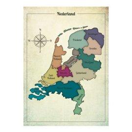 Nieuweschoolplaten Vintage Poster Nederland