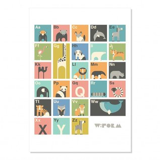 W:form Retro poster Alfabet ABC