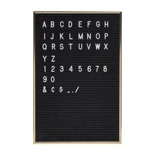 Jay Retro Letterbord Zwart incl. 286 witte tekens