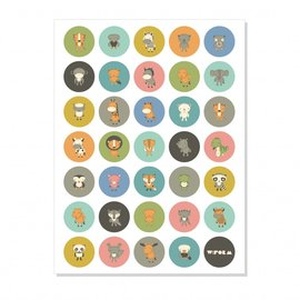W:form Retro poster Cirkels Dieren