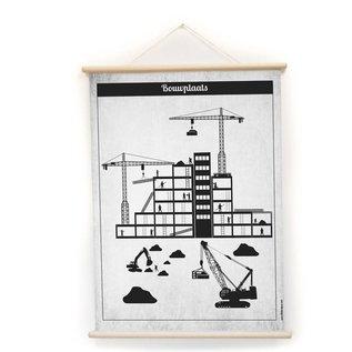 Nieuweschoolplaten Schoolplaat Werktuigen / Bouwplaats