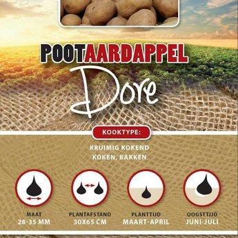 1 kilo Dore pootaardappel vroeg kruimig