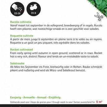 Rucola italiaanse snijgroente groentezaden