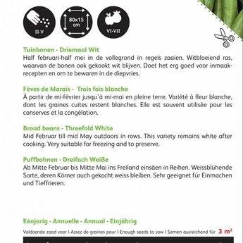 Tuinbonen Driemaal Wit