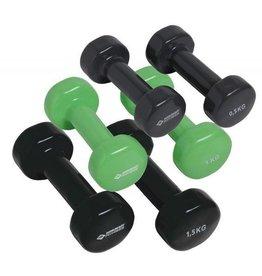 Schildkroet-Fitness Fitness dumbbells, koffer met 3 paar dumbbells