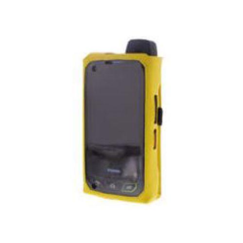 lederen hoes LC S01 voor de Smart-Ex 01. Met veerklem. In de kleur geel.