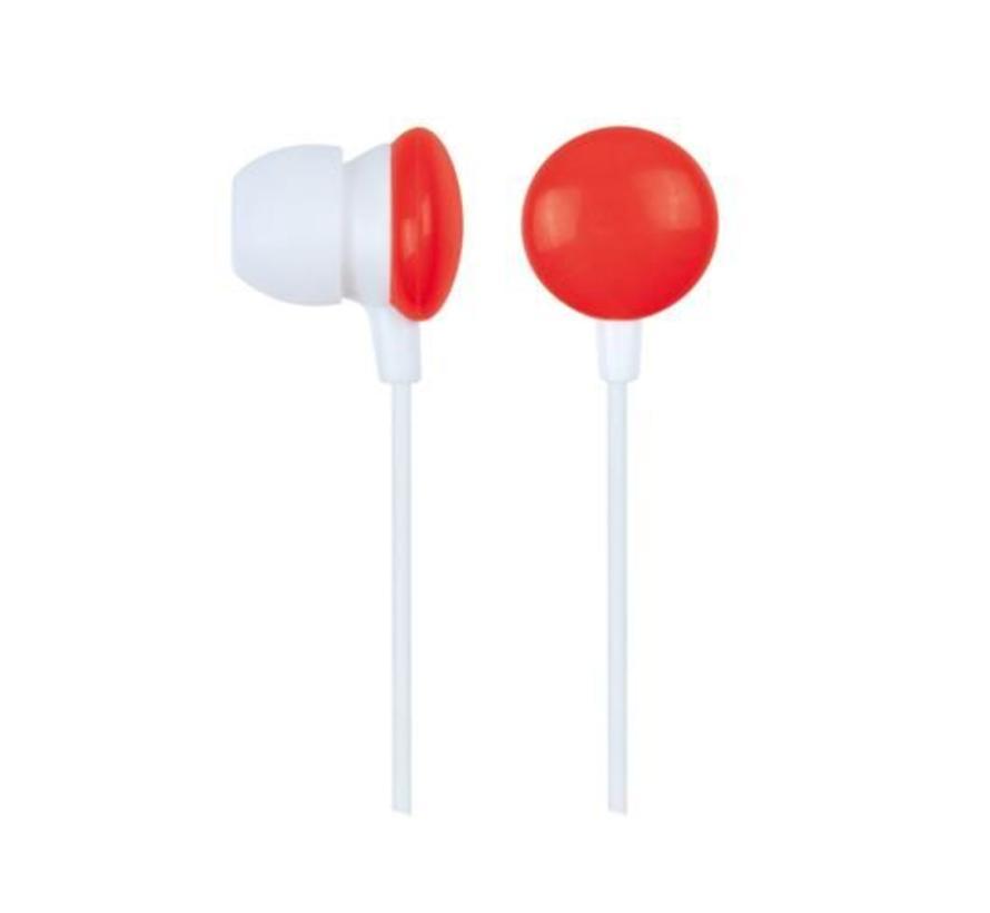 """Stereo oortelefoon in-ears """"Rode Smarties"""""""
