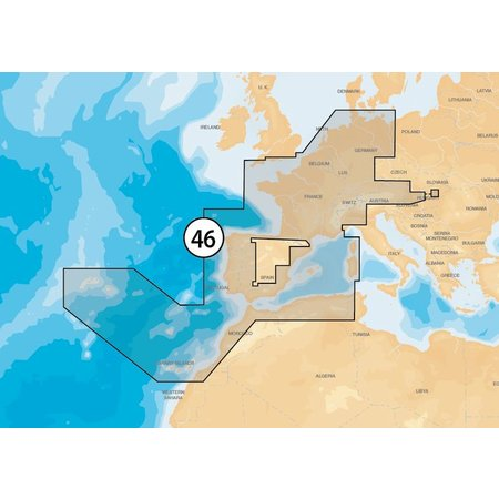 Navionics Frankrijk- Spanje-Nederland en binnenland EU-MSD/46XG