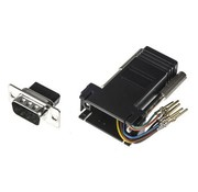 RS 9 Way D-sub Male, RJ45 Adapter, 1 Port,