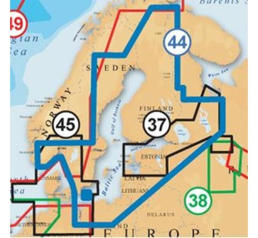 Baltische Staten, Finland, Zweden en Noorwegen MSD 44XG