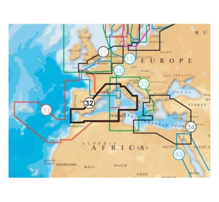 Middellandse Zee West MSD 32p+