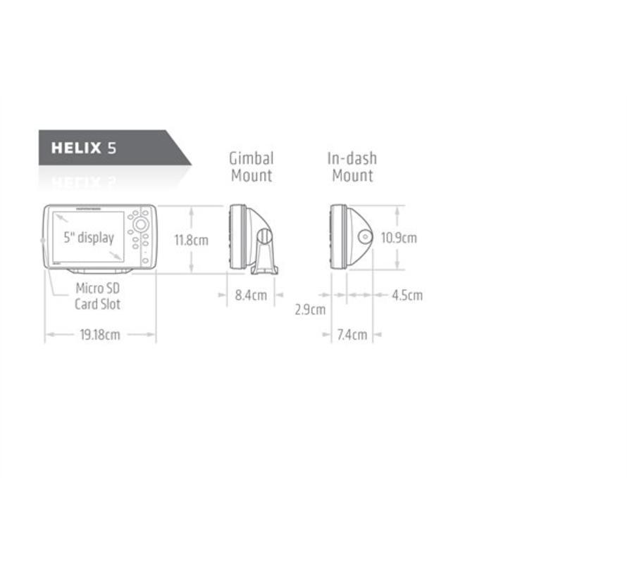 Helix 5 CHIRP GPS G2 Fishfinder/kaartplotter