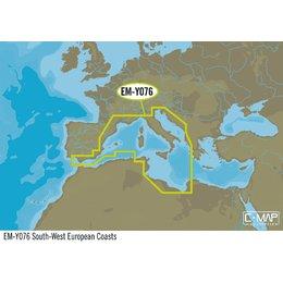 C-Map EM-Y076 zuid-west Europa kust