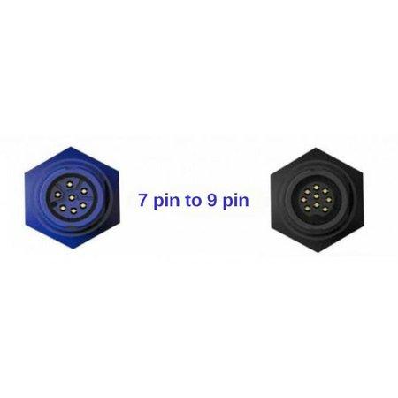 Navico 9 Pin black XDCR to 7 pin blue adapter